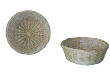 Round baskets without handles (Various dimensions).